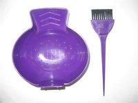 Hair Color Bowl & Brush W/ Hook