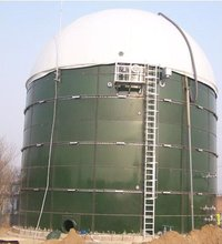 Glass-Fused-To-Steel Biogas Reactor