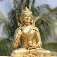 Small Fabulous Buddha Brass Idols