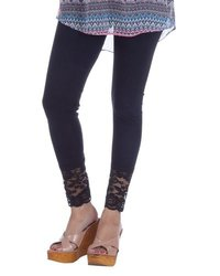 Lace Ankle Black Ladies Leggings