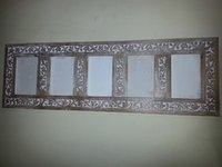 Wooden Carved Multiple Wall Photo Frame