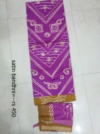 Satin Bandhni Ladies Suits