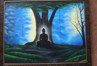 Budha Abstract Oil Paintings