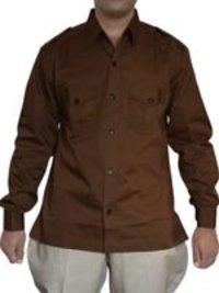 Mens Brown Jodhpurs Hunting Shirt