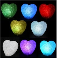 Color Changing Crystal LED Heart Candle