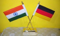 Brass Table Flag Stand