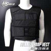 Aa Shield Bullet Proof Vest Plate Carrier Aramid Core Nij Iiia 3a Size L Black