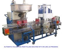 Automatic Paint Filling Machine With Lid Pressing
