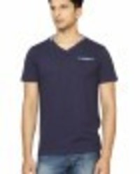 V-Neck T-Shirt Navy