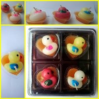 Duck In Heart Plastic Shape Scented Candles Box Set