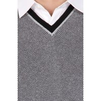 Black Structured Regular Fit Night Life Sweater