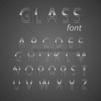 Silver And Gold Mercury Glass Alphabet Letters
