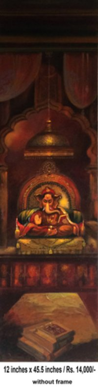 Acrylic Canvas Lord Ganesha Painting