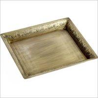 Antique Gold Decorative Tray