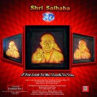 3d Sai Baba Fiber Frame