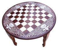 Round Chess Table 20 Inches