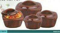 Square Wooden Finish Hot Pot