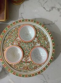 Handcrafted Marble Plate