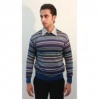 Wool Fashion Striped Pullover Sweater For Men