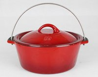 Casserole Enameled Cast Iron Pot
