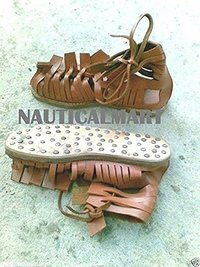 Brown Leather Medieval Sandal<