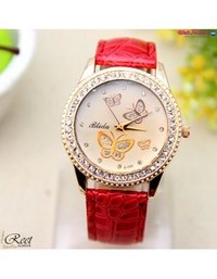 Fashion Butterfly Red Watch