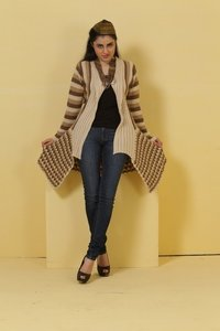 Ladies Long Knitted Cardigans