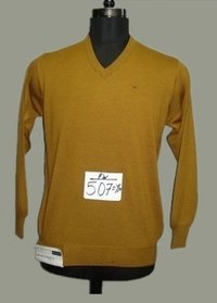 Mens Yellow Woolen Pullover