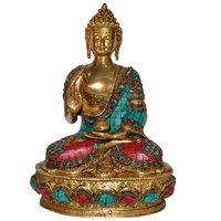 Lord Sitting Buddha Idol With Stone