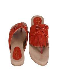 Orange Color Flat Sandal