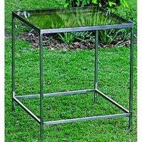Glass Garden Stool