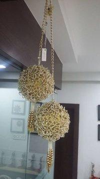 Handmade Flower Round Hanging