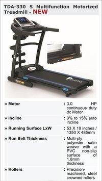 Multifunction Motorized Treadmill Tda330