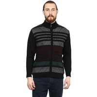 Regular Fit Black Round Neck Mens Pullover