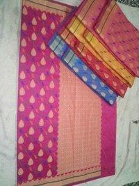 Fancy Alfi Allover Multi Cotton Silk Sarees
