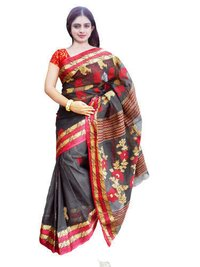 Ladies Cotton Zari Border Saree