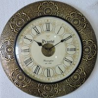Decorative Design Brass Fitted Wooden Wall Clocks