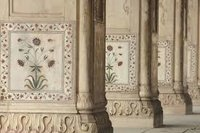 Marble Inlay Pillars