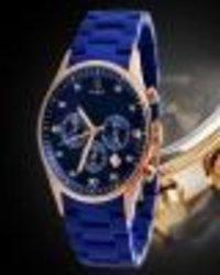 Blue Color Wrist Men'S Watch