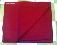 Red Hospital Blankets
