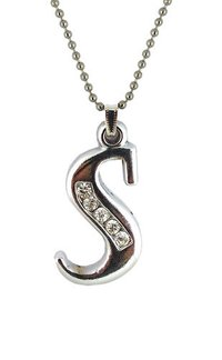 Alphabet Pendant With Chain