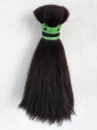 Double Drawn Black Human Hair