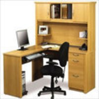 Wooden Office Table And File Cabinets