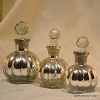 Glass Silver Perfume Bottle