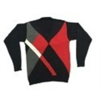 Red And Black Cotton Sweater