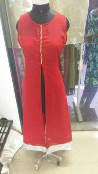 Ladies Red Georgette Kurtis