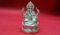 Silver Plated Vighnaharta Statue