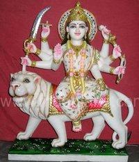 Marble Mata Durga Statue