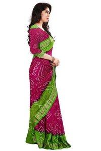Ladies Multicolor Bandhani Saree