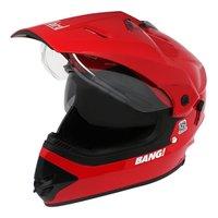 Helmet-Sb 42 Bang Motocross With Double-Visor-Cherry Red (Steelbird)